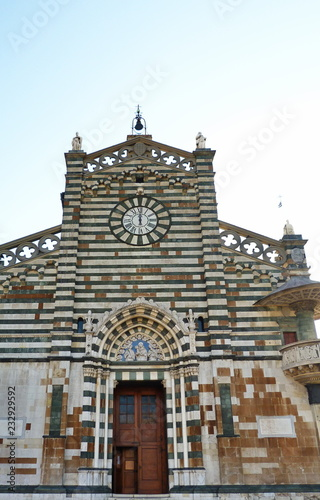 Photo  Facade of the Cathedral of Prato, Tuscany, Italy