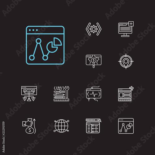 Fotografie, Obraz  SEO icons set