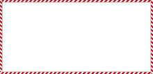 Rectangle Candy Cane Frame Wit...