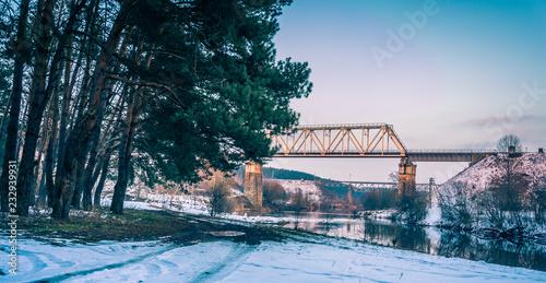 Fototapeta Winter forests obraz na płótnie