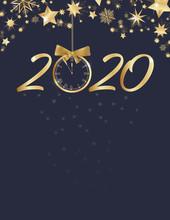 Happy New Year. Stars With Big...