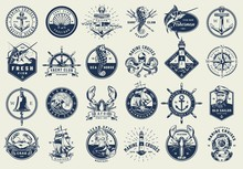 Vintage Nautical Labels Collec...