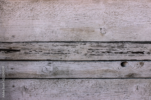 Valokuvatapetti white vintage rustic wooden panel with horizontal gaps