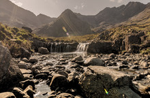 Waterfalls At The Fairy Pools, Glen Brittle, Isle Of Skye, Highlands, Scotlands