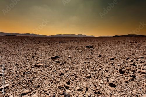 Printed kitchen splashbacks Desert Fantastic sunrise in the desert.