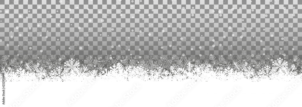 Fototapeta Transparenter Hintergrund Schneelandschaft