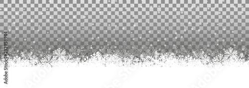 Fotomural Transparenter Hintergrund Schneelandschaft