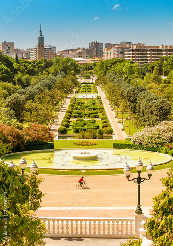 Fountains in the park baroque garden of Jose Antonio
