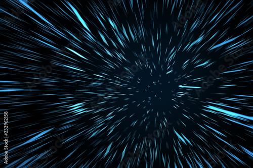 Photo Blue High Speed Space Warp Blur