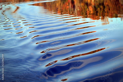 Fotografia  background blurred texture waves on the river