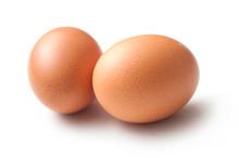 Closeup Of Two Organic Eggs On...