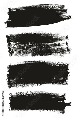 Fotografía  Calligraphy Paint Brush Background High Detail Abstract Vector Background Set 13