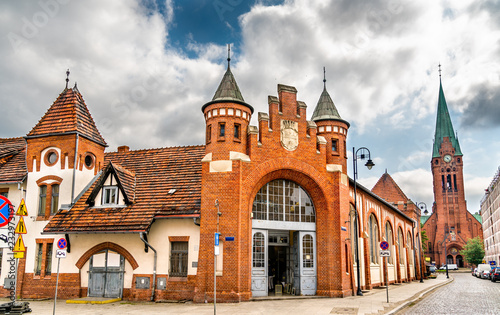 Obraz Old city market in Bydgoszcz, Poland - fototapety do salonu