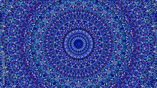 Keuken foto achterwand Boho Stijl Blue abstract botanical garden mandala pattern ornament wallpaper - tribal vector illustration