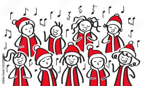 Lustige Weihnachtslieder.Weihnachtschor Sternsinger Chor Weihnachtliche