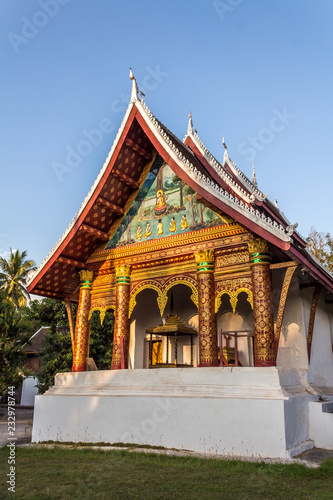 Spoed Foto op Canvas Bedehuis Wat Aham Temple (Monastery of the Opened Heart) in Luang Prabang, Laos