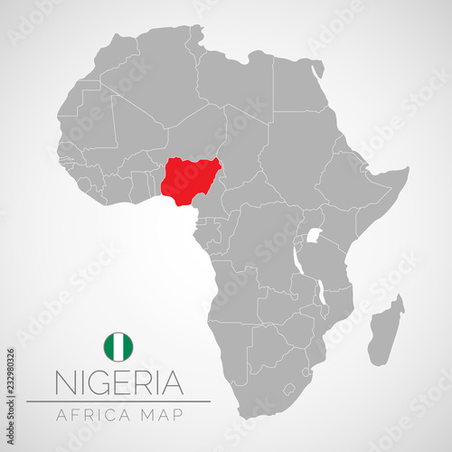 Africa Map Nigeria.Map Of Africa With The Identication Of Nigeria Map Of Nigeria