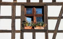 Window Of Alsacien Half-timber...