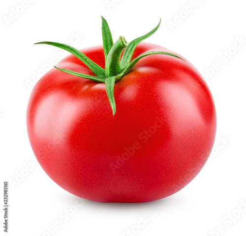 Foto tomato isolated.