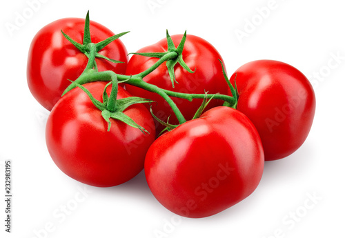 Fotografia Tomato. With clipping path.