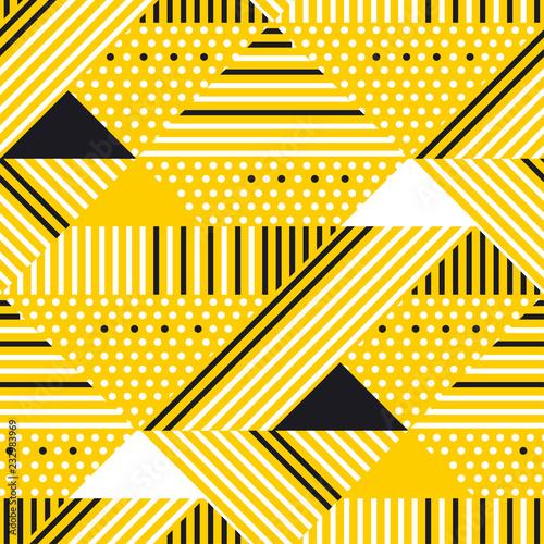 zolty-i-czarny-geometryczny-nowozytny-bezszwowy-wzor