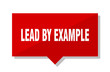 lead by example red tag