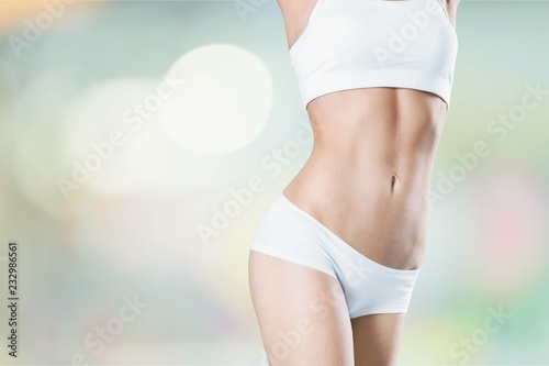 Fototapeta Close-up beautiful slim female body obraz na płótnie