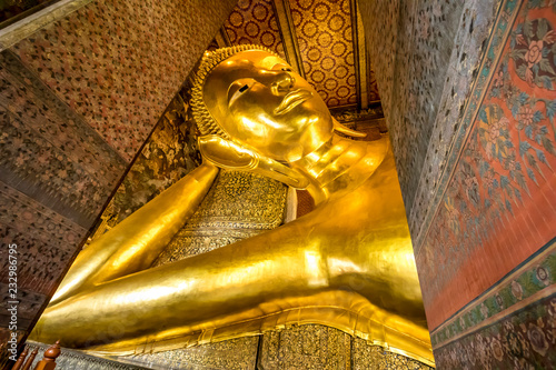 Buddha Reclining at wat pho in thailand