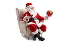 Santa Claus Sitting In An Armc...