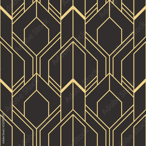 Photo  Abstract art deco seamless modern tiles pattern