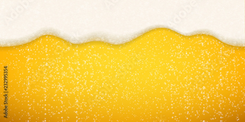 Fotografia Beer foam bubbles background
