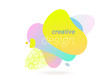 Liquid color gradient, halftone fluid color pattern on vector abstract background