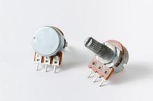 Two Variable Resistors Or Potentiometers / Potmeter