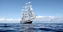 Sailing Ship Under White Sails...