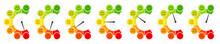 7 Smileys Color Barometer Public Opinion Vertical