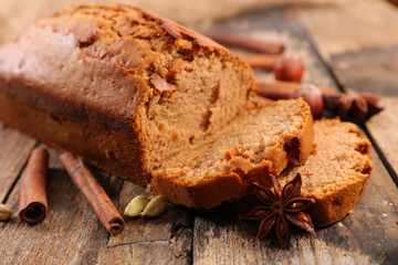 gingerbread cake and spices