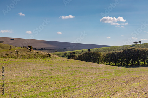 Fotografie, Obraz  Sussex Farmland on a Sunny Autumn Day