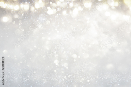 Stampa su Tela  glitter vintage lights background
