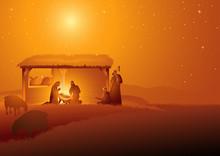 Nativity Scene Of The Holy Fam...