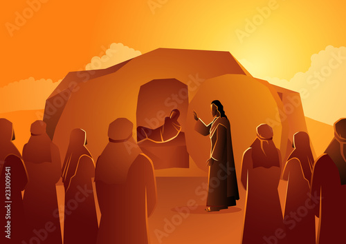 Photo Jesus raises Lazarus from the dead