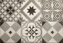 Floor Or Wall Tiles With Various Paterns As Background