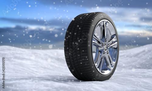 Valokuva  3D Illustration Winterreifen