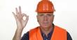 Serious Temperately Engineer Maintenance Team Ok Sign Good Job Hand Gesture