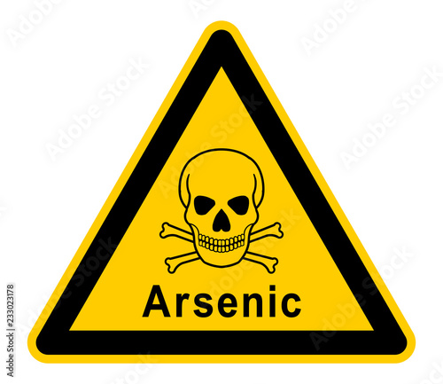 Photo wso390 WarnSchildOrange - english - warning sign - Arsenic: skull and bones - xx