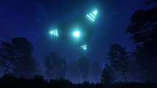 3D Triangular Ufo Hung In The ...