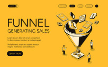 Funnel Generating Sales Vector...