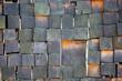 Wooden block texture. Wood burning background