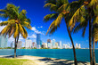 canvas print picture - Skyline view of Miami Florida