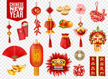 Chinese New Year Transparent Set