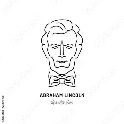 Photographie  Abraham Lincoln Icon, USA President Icon